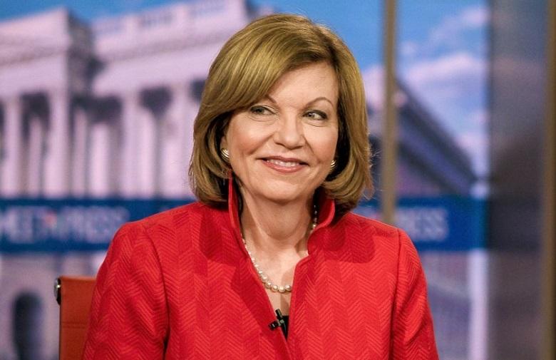 Susan Page của USA Today sẽ là người cầm trịch trong cuộc tranh luận giữa 2 ứng viên phó tổng thống vào tối 7/10. (Ảnh qua Los Angeles Times)