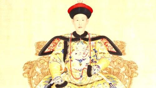 Hoàng đế Càn Long - bức tranh do Lang Thế Ninh thời nhà Thanh vẽ