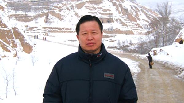Luật sư Cao trên con đường phủ đầy tuyết thuộc Thiểm Tây - quê hương của ông