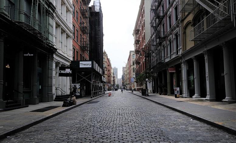 Hình ảnh thê thảm ở một khu mua sắm trong Thành phố New York vào ngày 12/8/2020