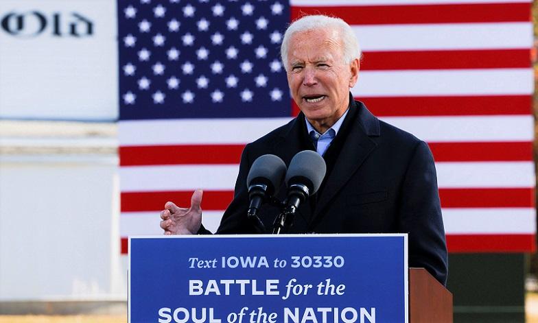 Ứng cử viên đảng Dân chủ Joe Biden phát biểu tại thành phố Des Moines, bang Iowa, vào ngày 30/10/2020.