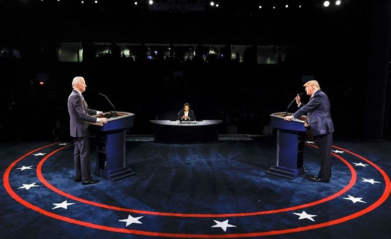 Tổng thống Donald Trump và ứng cử viên đảng Dân chủ Joe Biden tham gia cuộc tranh luận cuối cùng tại Đại học Belmont ở Nashville vào ngày 22/10/2020