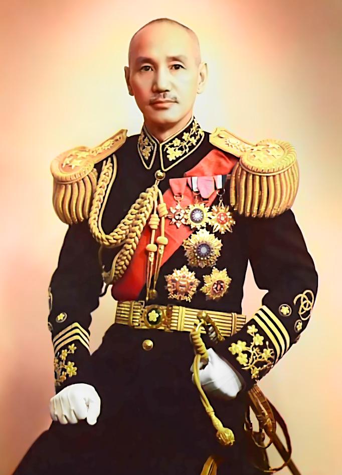 Tưởng Giới Thạch mặc đồng phục năm 1944, ông là Chủ tịch Quốc Dân Đảng Trung Quốc và Chủ tịch Ủy ban Quân sự Chính phủ Quốc dân Trung Hoa. (Ảnh: Wikipedia)