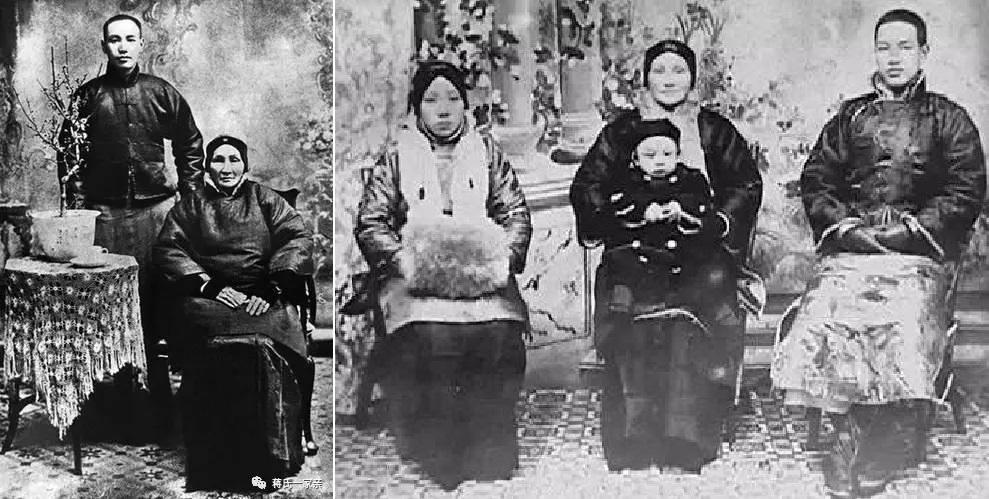 Tưởng Giới Thạch và bà Vương Thái Ngọc, ngoài ra còn có người vợ đầu của Tưởng Giới Thạch là Mao Phúc Mai và con trai Tưởng Kinh Quốc.  (Ảnh qua knews)