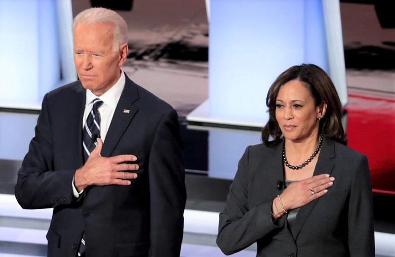 Cựu Phó Tổng thống Joe Biden và Thượng nghị sĩ Kamala Harris tại một sự kiện ở Detroit vào ngày 11/8/2020