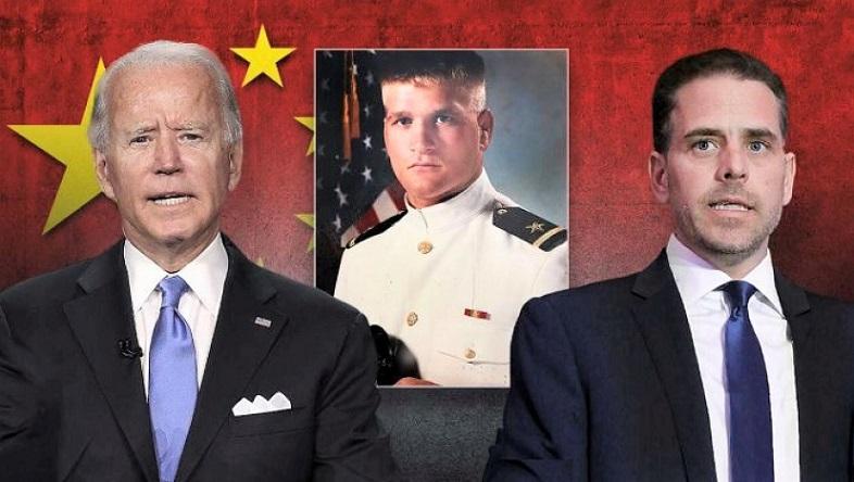 Tony Bobulinsky khi còn phục vụ Lực lượng Hải quân Mỹ cùng với ứng củ viên đảng Dân chủ Joe Biden và con trai Hunter Biden