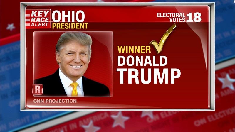 Tiểu bang Ohio chứng nhận Tổng thống Trump giành chiến thắng