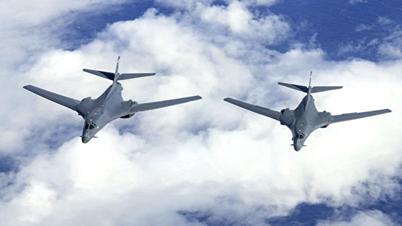 Máy bay ném bom B-1B của Hoa Kỳ đã bay qua Thái Bình Dương để thực hiện một đợt huấn luyện
