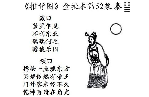 """Hình 2: Hình ảnh thứ 52 của phiên bản """"Thôi bối đồ"""" thời nhà Tấn, dự đoán """"tái tạo Càn Khôn (canh tân Vũ Trụ)""""."""