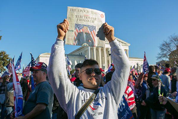 """Trong số những người tham gia cuộc diễu hành """"Million MAGA March"""" tại Washington DC vào ngày 14/11, có nhiều người trong số họ là độc giả của tờ báo Epoch Times."""