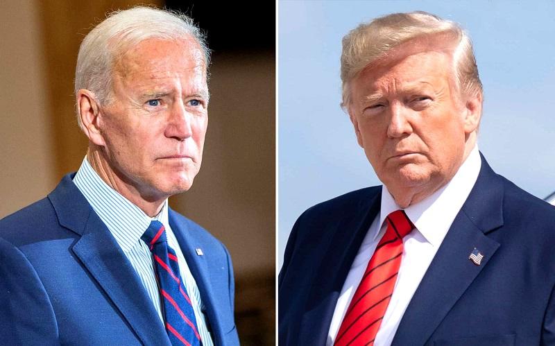 TT Trump (phải) và đối thủ Joe Biden (trái)