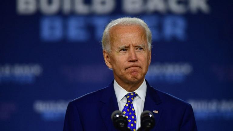 Ứng cử viên đảng Dân chủ Joe Biden có bài phát biểu tại Trung tâm Cộng đồng William Hicks Anderson, ở Wilmington, Delaware vào ngày 28/7/2020.