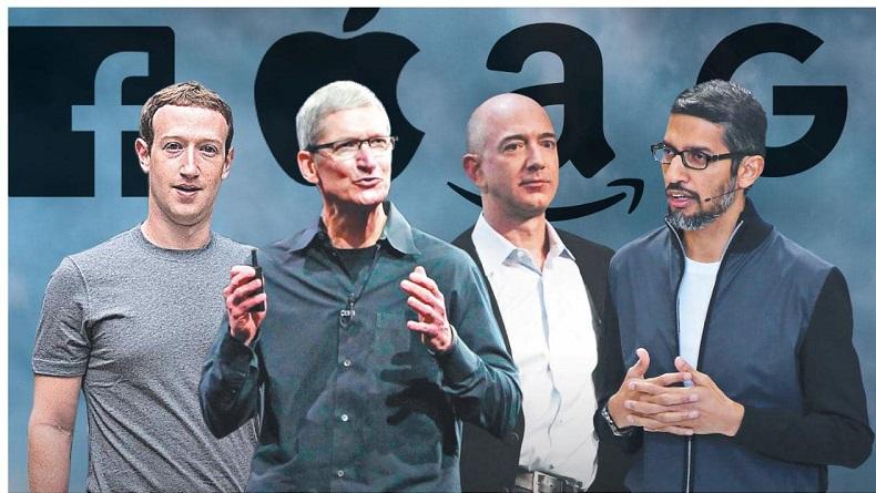 Từ trái qua: Các nhà điều hành của Facebook, Apple, Alphabet và Google