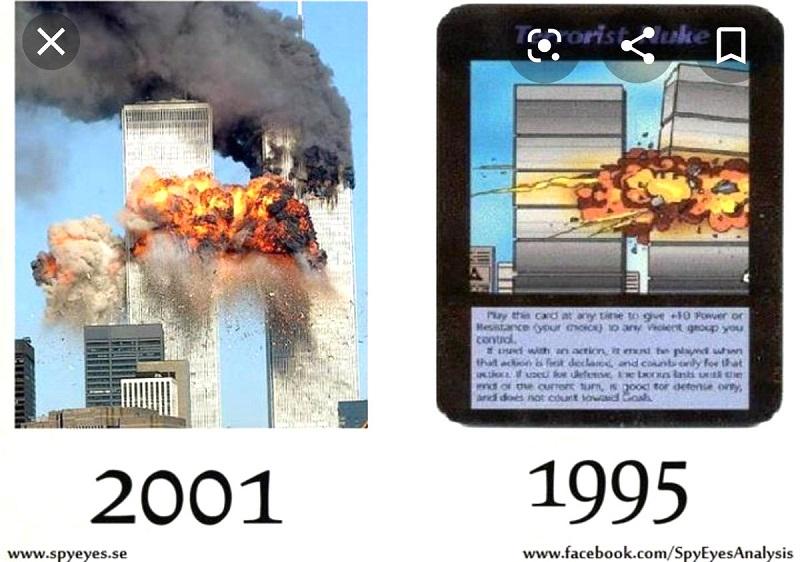 Lá bài này đã dự đoán chính xác về vụ tấn công khủng bố 11/9 vào 6 năm trước đó