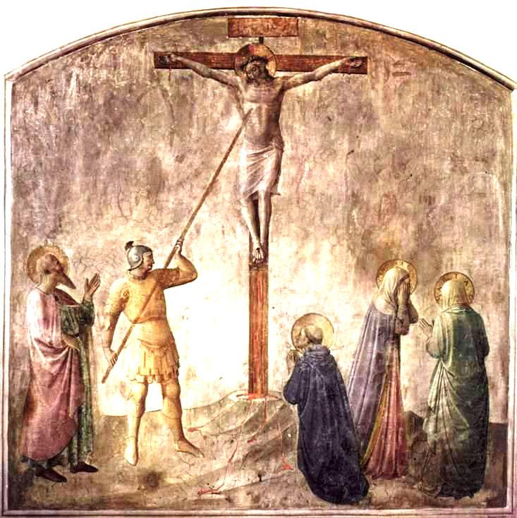 Binh sĩ La Mã Longinus dùng cây giáo đâm vào sườn Chúa Giê-su