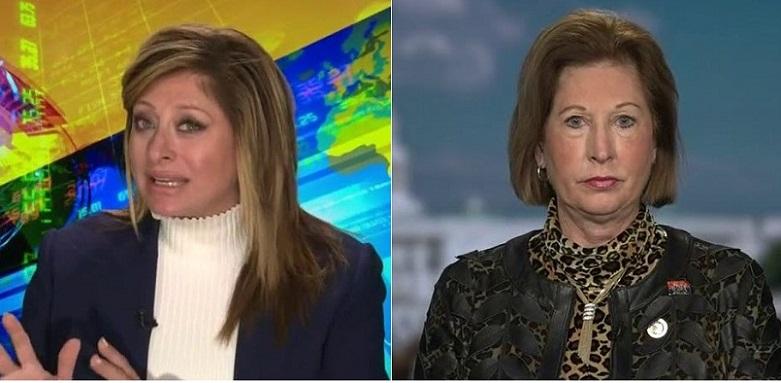 Người dẫn chương trình From Sunday Morning Futures - Maria Bartiromo (trái) và luật sư của chiến dịch Trump - Sidney Powell