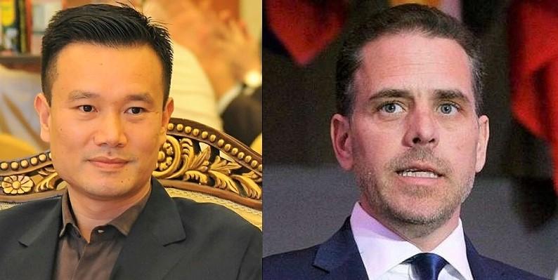 Diệp Giản Minh, người sáng lập tập đoàn năng lượng Trung Quốc - CEFC China Energy và Hunter Biden - con trai của ứng cử viên đảng Dân chủ Joe Biden