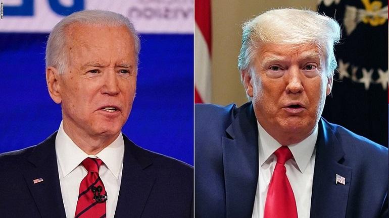 Tổng thống Donald Trump và ứng cử viên đảng Dân chủ Joe Bidden