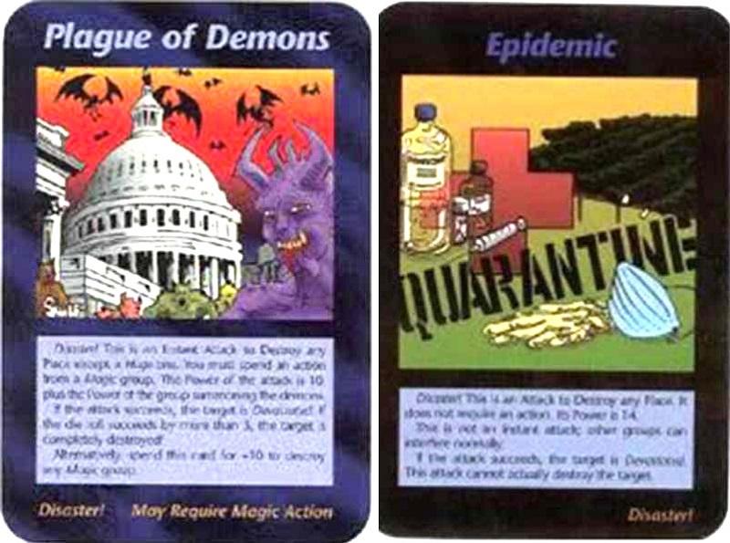 Hai thẻ bài này dường như ám chỉ rằng virus sẽ bùng phát từ Vũ Hán, cũng ám chỉ rằng virus sẽ tấn công Hoa Kỳ và chính phủ Mỹ
