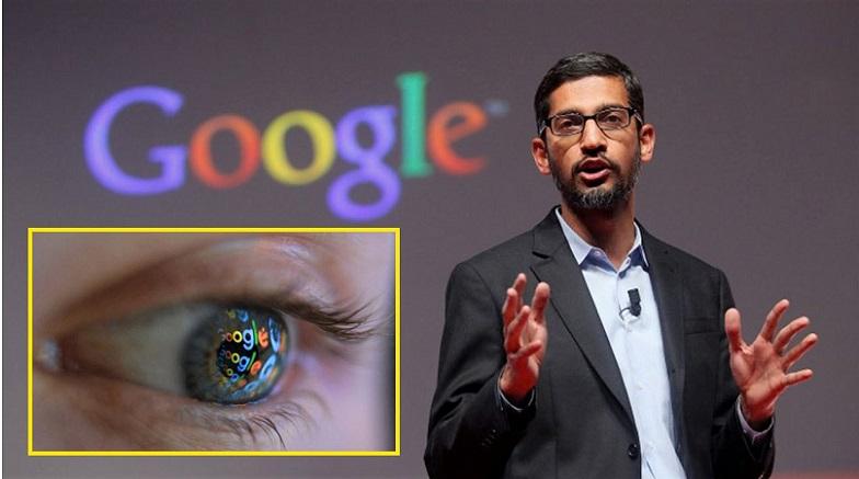 CEO Google - Sundar Pichai, phát biểu trong buổi thuyết trình tại Mobile World Congress ở Barcelona ngày 2/3/2015