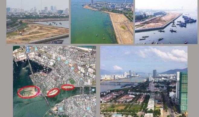 Có bao nhiêu công trình đang lấp sông Hàn?