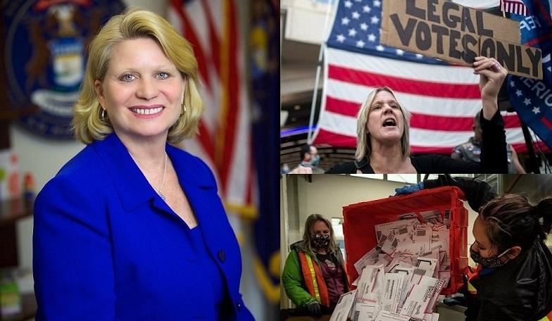 ựu Ngoại trưởng Michigan - Ruth Johnson (phải) sẽ yêu cầu một cuộc kiểm toán độc lập để đảm bảo tính chính xác và tính toàn vẹn của cuộc bầu cử