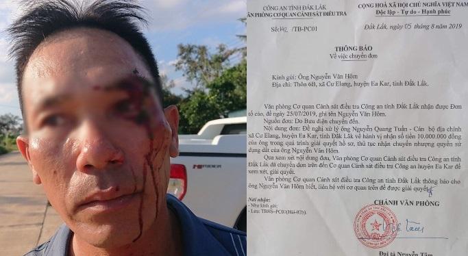 Đắk Lắk: Vừa tố cáo cán bộ ăn hối lộ, dân liền bị côn đồ hành hung chảy máu đầu - Ảnh 1