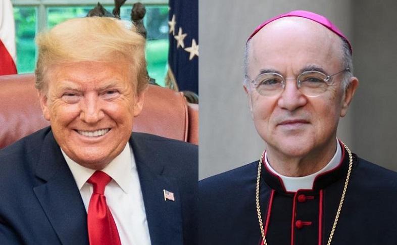 Hình ảnh Tổng thống Trump và Cựu Sứ Thần Carlo Maria Viganò