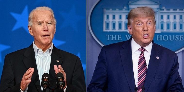 Tổng thống Donald Trump và ứng cử viên đảng Dân chủ Joe Biden