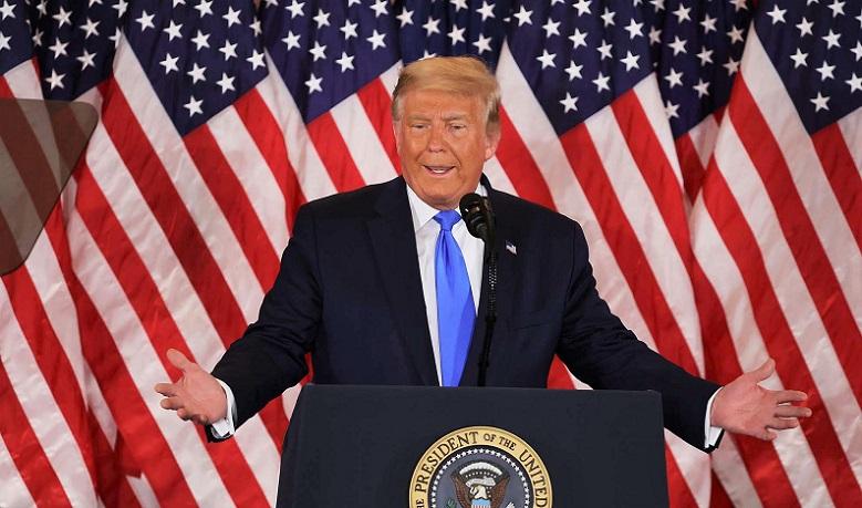 rong đêm bầu cử 3/11, Tổng thống Donald Trump khẳng định rằng đảng Dân chủ đang cố gắng gian lận để đánh cắp cương vị tổng thống Mỹ