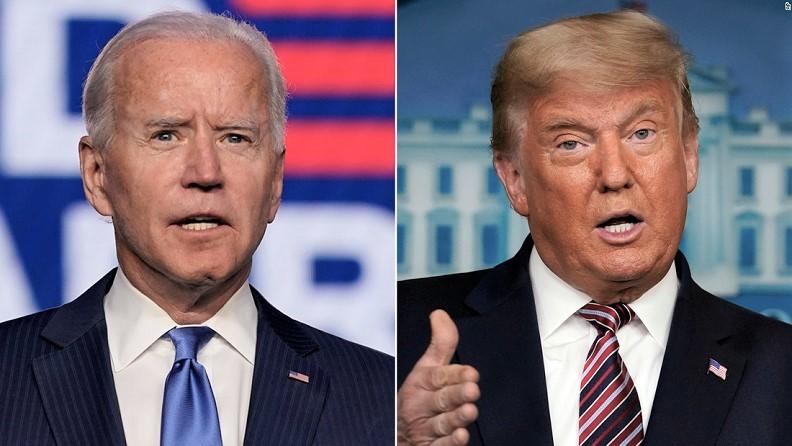 Tổng thống Mỹ Donald Trump và ứng cử viên đảng Dân chủ Joe Biden.
