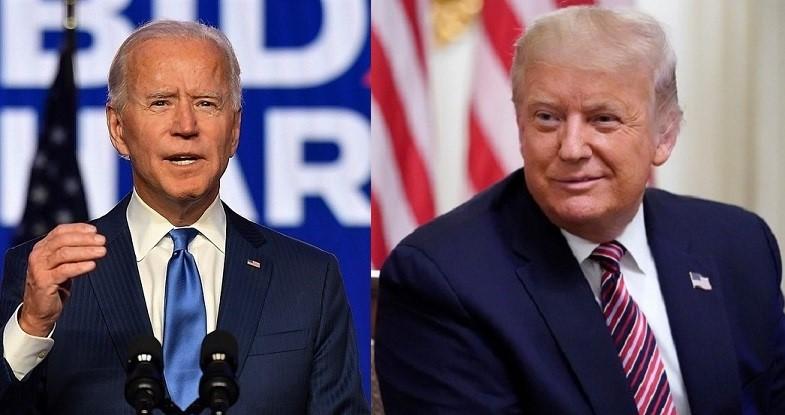 Ảnh kết hợp: Tổng thống Donald Trump và ứng cử viên đảng Dân chủ Joe Biden