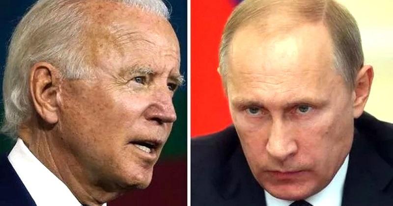 Tổng thống Nga Putin (phải) không hề chúc mừng Biden (trái)