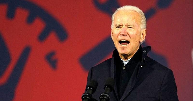 Joe Biden trong một buổi vận động trước thềm bầu cử