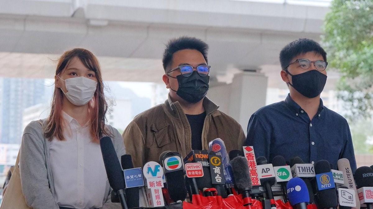 Tòa án Hồng Kông vừa tuyên án 3 nhà lãnh đạo phong trào ở Hồng Kông