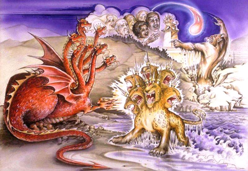 Con rồng đỏ và con thú bảy đầu mười sừng