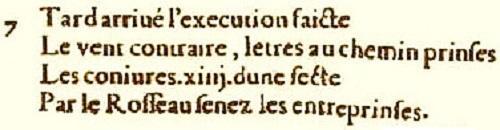 """Nguyên văn của phần """"Centuries 1–7"""" bằng tiếng Pháp của """"Các thế kỷ"""""""