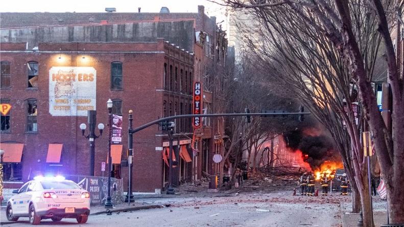 Địa điểm xảy ra vụ nổ ở khu vực Second and Commerce ở Nashville, Tennessee vào ngày 25/12/ 2020