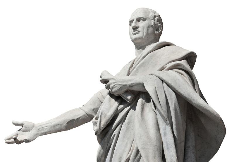 Tượng miêu tả Marcus Tullius Cicero