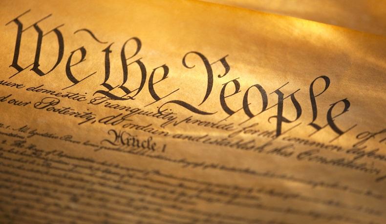 Bản Hiến pháp đầu tiên của Hoa Kỳ ban đầu chỉ vỏn vẹn bốn trang