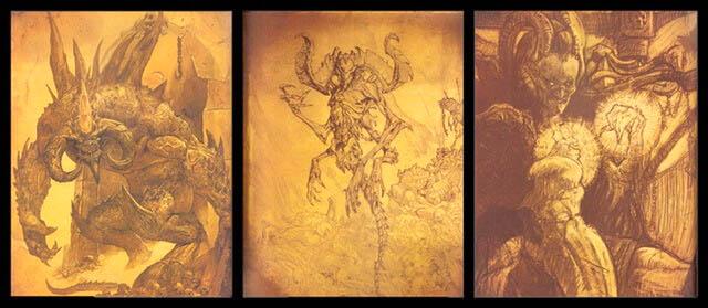 Hình tượng của Baal (ngoài cùng phải)