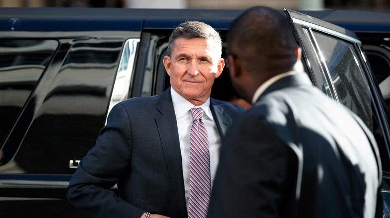Cựu Cố vấn An ninh Quốc gia của Tổng thống Donald Trump, Michael Flynn đến tòa án liên bang ở Washington vào ngày 18/12/2018