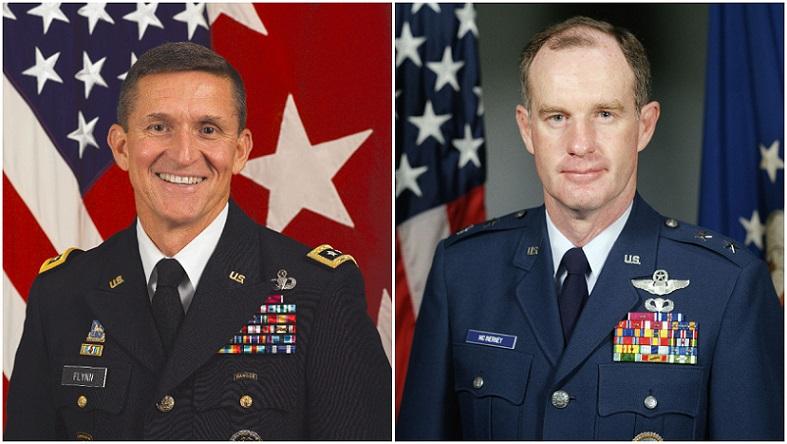Tướng Michael Flynn và tướng Thomas McInerney