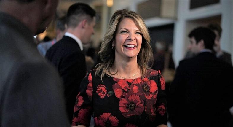 Ứng cử viên Đảng Cộng hòa Hoa Kỳ Thượng viện cho Arizona - Kelli Ward, tham dự CPAC 2018 tại National Harbour, Maryland vào ngày 22/2/2018.