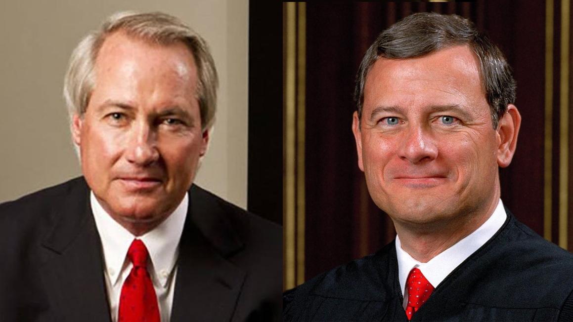 Luật sư Lin Wood và Chánh án Tối cao Pháp viện John Robert
