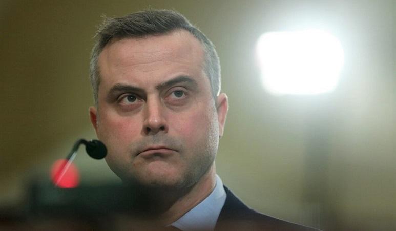Chủ tịch và Giám đốc điều hành của Hệ thống Bầu cử Dominion - John Poulos làm chứng trong phiên điều trần trước Ủy ban Quản lý Hạ viện ở Washington, DC vào ngày 9/1/2020
