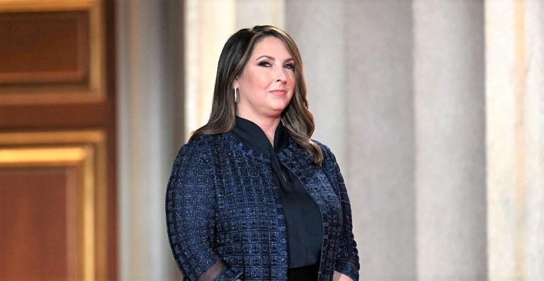 Chủ tịch Ủy ban Quốc gia Đảng Cộng hòa - Ronna McDaniel đến phát biểu tại khán phòng Mellon ở Washington, DC vào ngày 24/8/2020