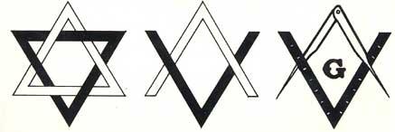 Mối liên hệ giữa sao 6 cánh và logo của hội Tam Điểm.