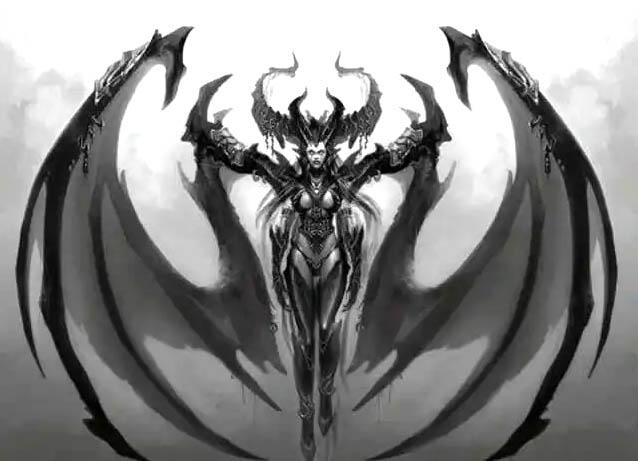 Hình tượng Lilith - mọc ra đôi cánh ma quái sau khi báng bổ tên Chúa, và bay khỏi vườn Địa Đàng