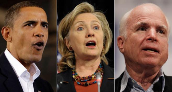 Obama, Hillary Clinton và McCain